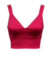 Satin Candy Bra Top hot pink front