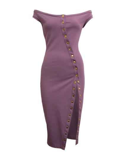 Uncover Dress violet front