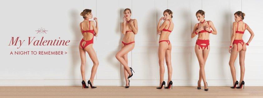 Красное на красном: Специальные серии нижнего белья ко Дню Влюблённых / photo Mayfayrstockings