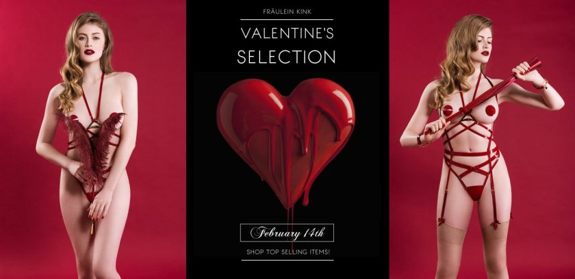 Красное на красном: Специальные серии нижнего белья ко Дню Влюблённых / photo Fraulein Kink