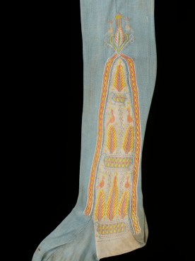 Embroidered silk stocking, 1800-29, English. Victoria and Albert Museum