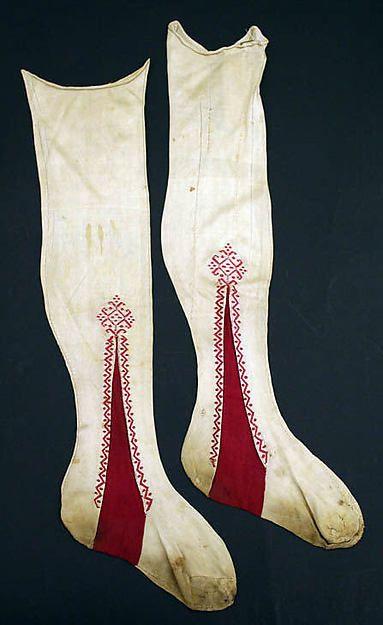 arly 19th century Italian silk stockings, Metropolitan museum
