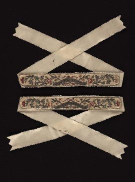 French Garter (one of a pair) 18th century, Museum of Fine Arts Boston