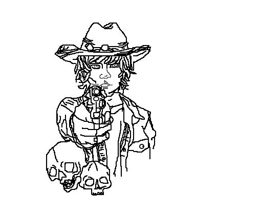 Carl The Walking Dead HQ Desenho De Pudim1902 Gartic
