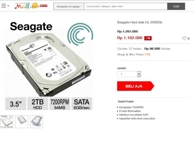 Hard Disk Eksternal