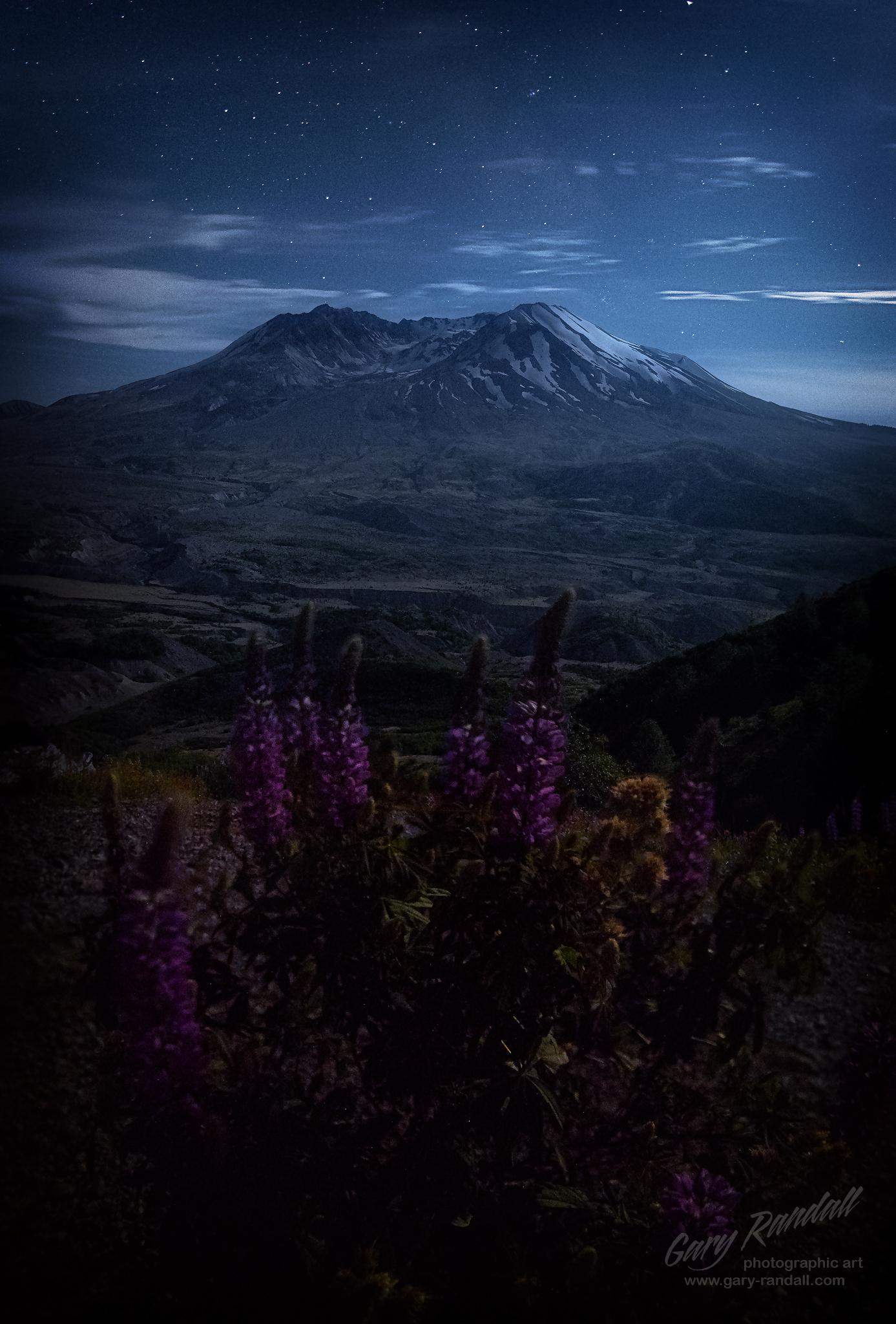 Moonlit Mount St Helens