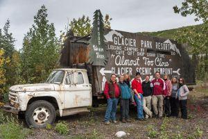 A happy group at the Matanuska glacier Alaska