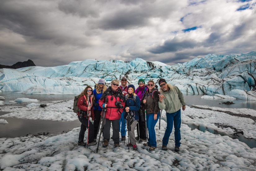 Group Photo at The Matanuska Glacier 2016
