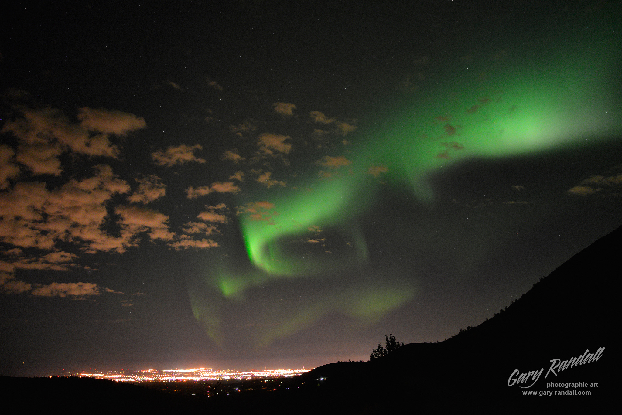 The Northern Lights over Anchorage Alaska