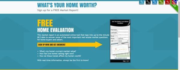 Market Snapshot Free Landing Page Example 1