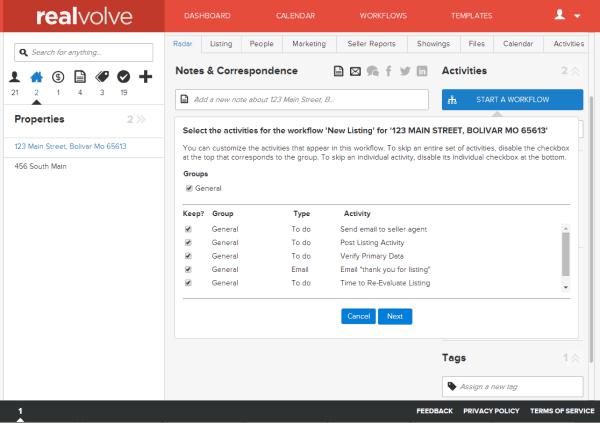 Realvolve workflow-start1