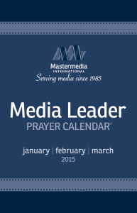 Master Media's Prayer Calendars help Christian pray for America's leading media influencers