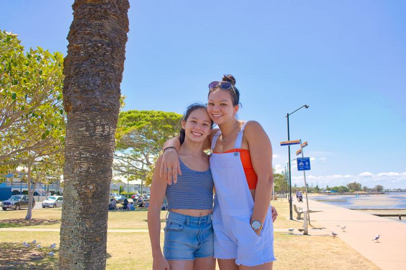 Larissa and Nicola at Sandgate Gary Lum