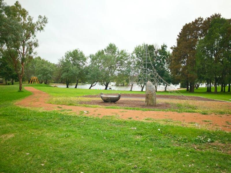 Empty playground on Lake Ginninderra Gary Lum
