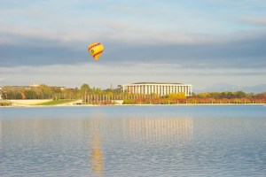 Balloon on Lake Burley Griffin Bridge to Bridge Gary Lum