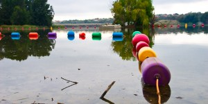 Buoys on Lake Ginninderra Easter Saturday Gary Lum