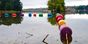 Buoys on Lake Ginninderra Easter Saturday Gary Lum