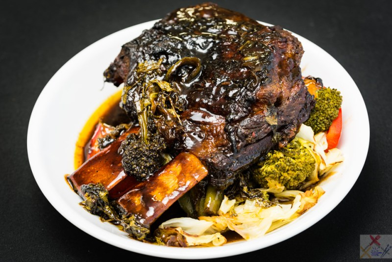 Good Friday slowly roasted short beef ribs with cabbage and broccoli Broke tooth gnawing meat off a rib Gary Lum