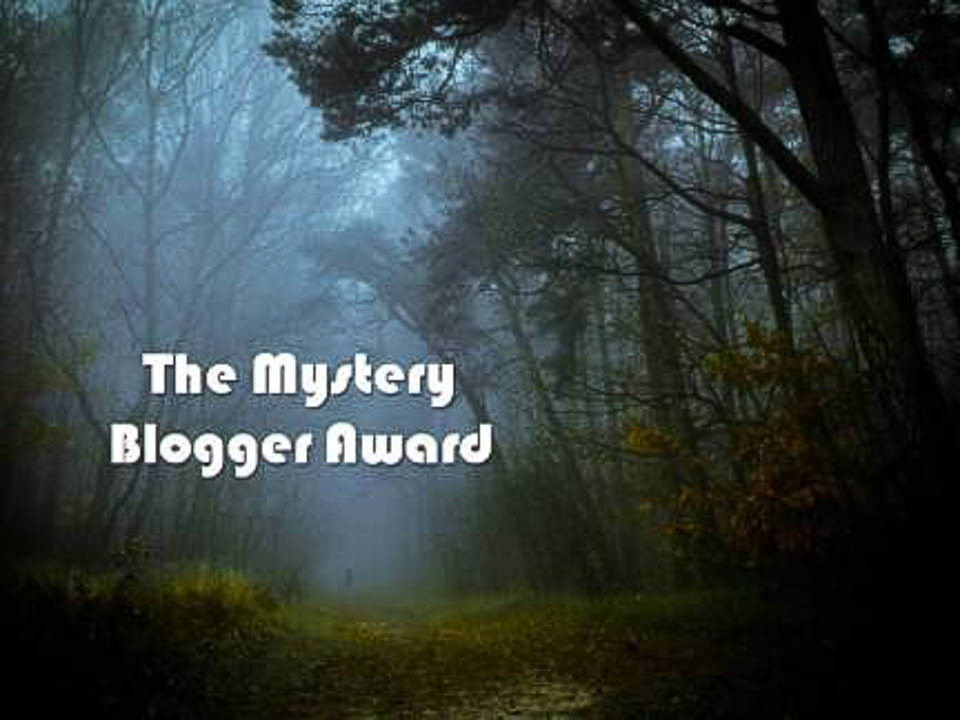 The mystery bloggers award image which looks like a foggy forest at dusk Gary Lum