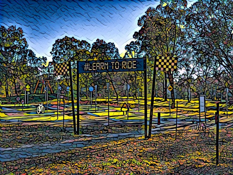 Lake Ginninderra Learn to Ride Centre in Belconnen Canberra with the Prisma app Gary Lum Learning to ride a bike