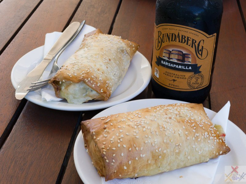 Chicken and mushroom filo with Ginger beer