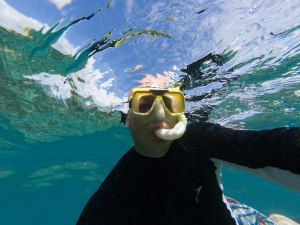 Gary Lum snorkelling