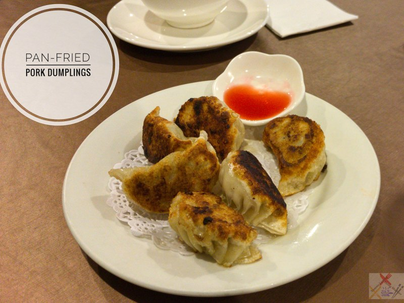 Pan-fried pork dumplings at Taste of China
