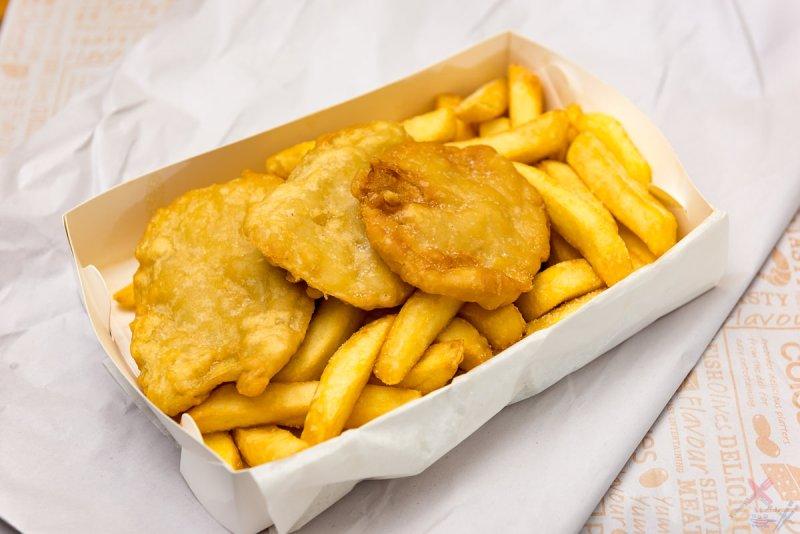 Hot chips and potato scallops Gary Lum after feeling blergh