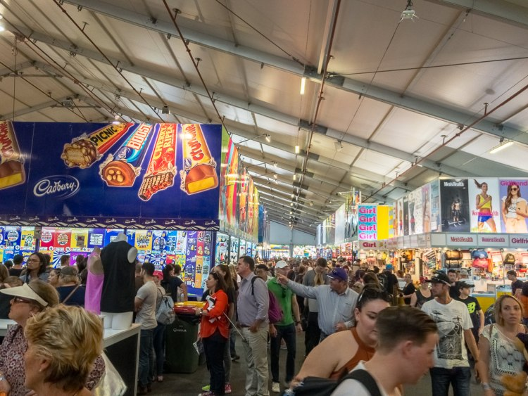 Show bag pavillion at The Ekka 2017 Gary Lum