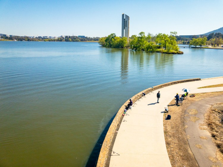 Fishing on Lake Burley Griffin Gary Lum
