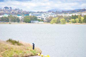 Fishing on Lake Ginninderra Gary Lum