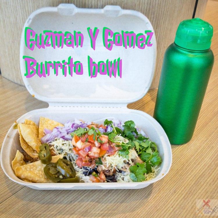Guzman Y Gomez burrito bowl with pulled pork Gary Lum