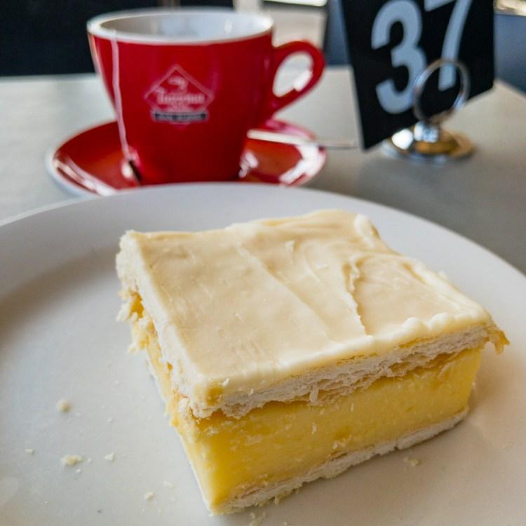 Vanilla slice at Holbrook Bakery Gary Lum
