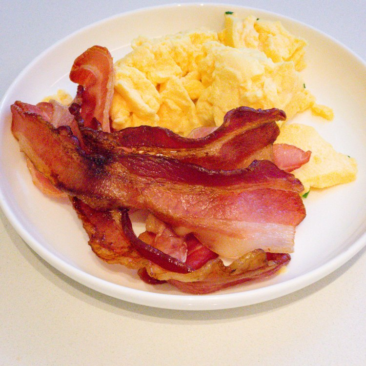 Canberra Airport bacon and scrambled eggs Gary Lum weight loss