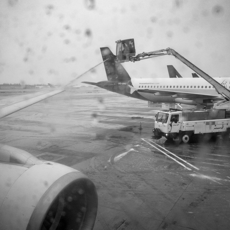 travelling for work Gary Lum de-icing wing