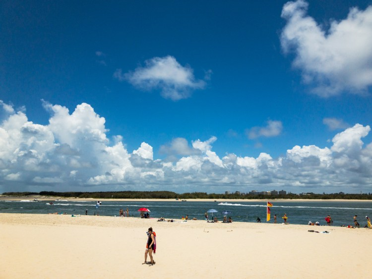 Caloundra beach Australia Day