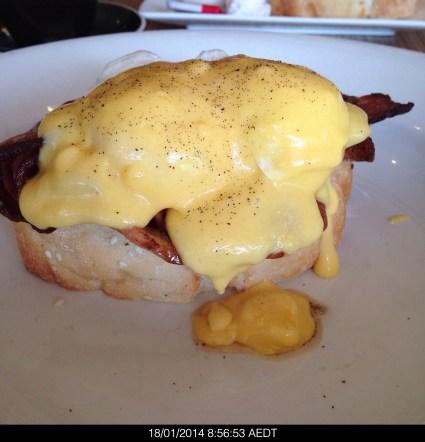 Saturday2014-01-18 08.56.49AEDT Eggs Benedict from Rocksalt sans toast
