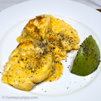 Wednesday2014-02-05 06.11.01AEDT Scrambled eggs and avocado for breakfast