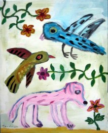 birds and pinkdog