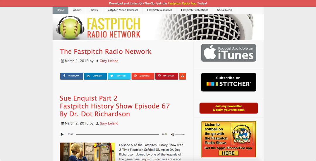 Fastpitch Radio Network of Fastpitch Softball Podcasts