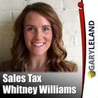 Gary Leland Show with Whitney Williams on Sales Tax