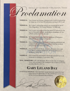 Gary Leland Day Proclmnation