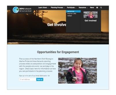 MPA Network Website   Navigation Feature