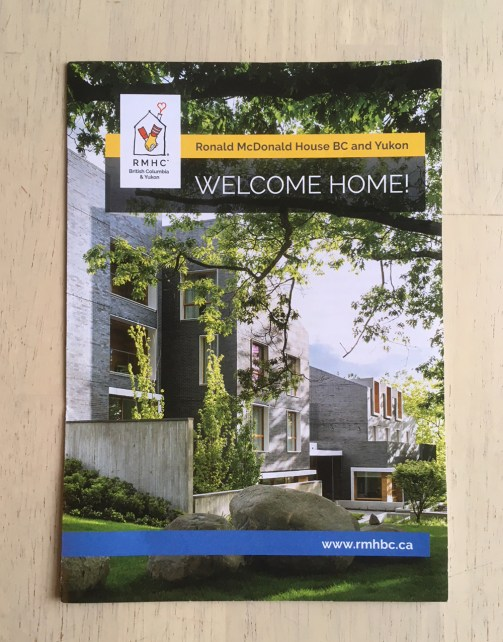 "Ronald McDonald Houe BC | ""Welcome Home"" Brochure"