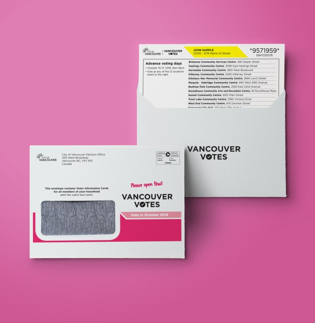 Vancouver Elections 2018 | Voter Letter and Voter Information Card (VIC)
