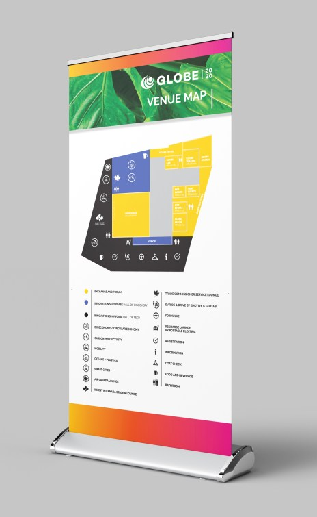 Roll Up Display – Way Finding Map of the Venue