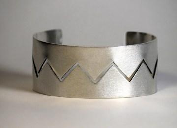 Silver cuff bracelet