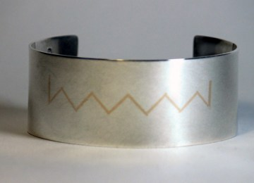 Gold and Silver cuff bracelet