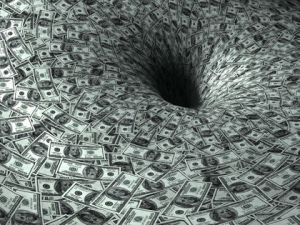 dollar's flow in black hole