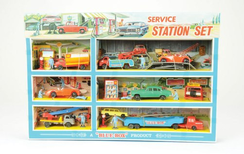 Blue Box Service Station Set